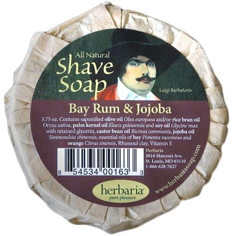 Herbaria all natural bay rum and jojoba oil shave soap photo