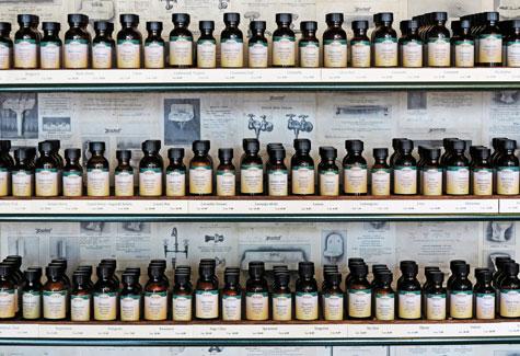essential oil display in store