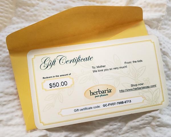 Herbaria Gift Certificate