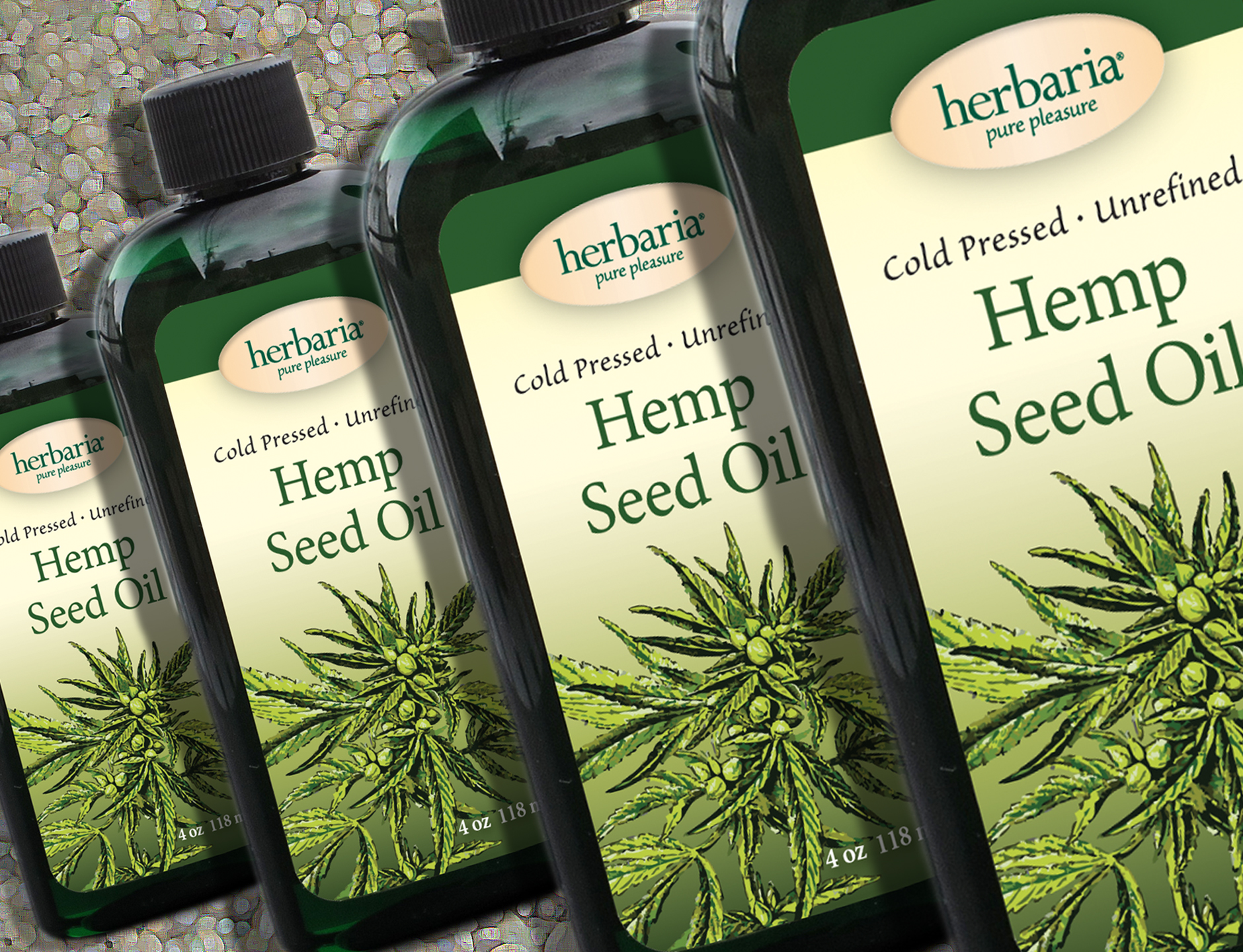 Herbaria Hemp Seed Oil Cold Pressed Unrefined