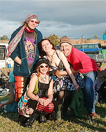 Marcia Crookes and friends enjoy patchouli photo