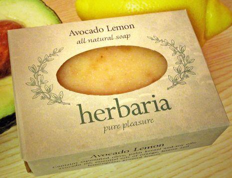 Herbaria all natural Avocado Lemon soap