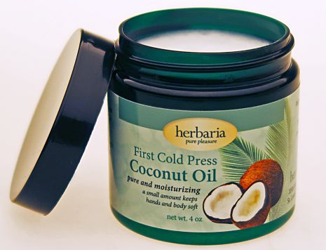 Herbaria cold pressed extra virgin Coconut Oil