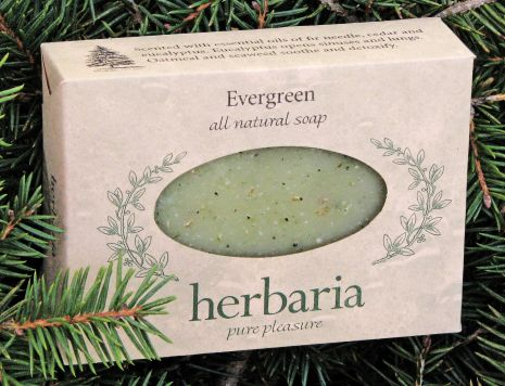Herbaria all natural Evergreen Soap