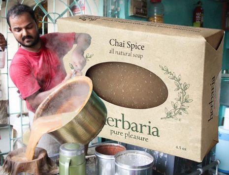 Herbaria all-natural Chai Spice Soap