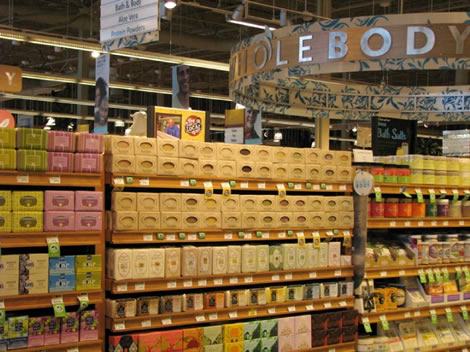 Herbaria soap on display at Whole Foods in St. Louis photo.